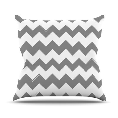 Candy Cane Chevron Throw Pillow Size: 18 H x 18 W x 3 D, Color: Gray