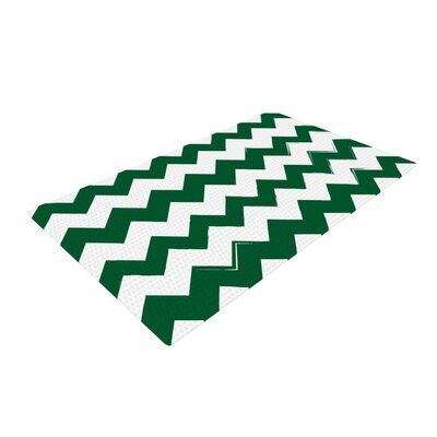 Candy Cane Chevron Green Area Rug