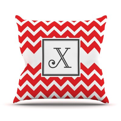 Monogram Chevron Throw Pillow