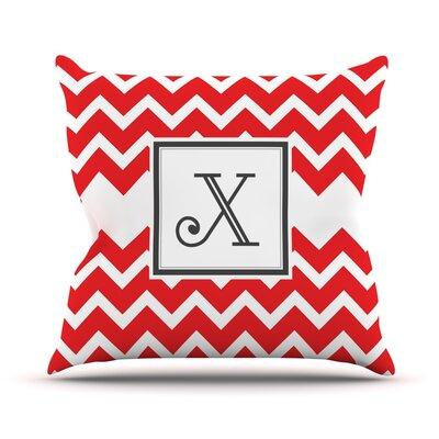 Monogram Chevron Throw Pillow