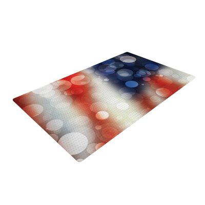 Patriot America Bokeh Red/White Area Rug