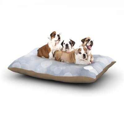 KESS Original Glass Bokeh Dog Pillow with Fleece Cozy Top Size: Small (40 W x 30 D x 8 H)