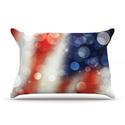 Patriot Featherweight Pillow Sham Size: Queen, Fabric: Woven Polyester