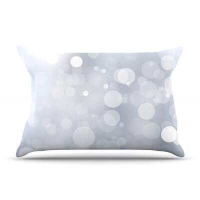 Glass Bokeh Pillow Case Color: Gray