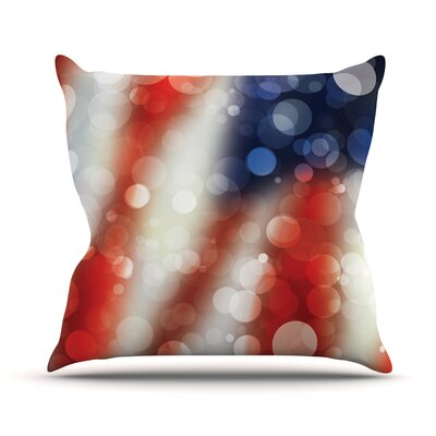 Patriot America Bokeh Throw Pillow Size: 16 H x 16 W x 3 D