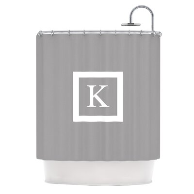Monogram Solid Shower Curtain Color: Gray