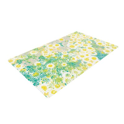 Kathryn Pledger Myatts Meadow Yellow/Blue Area Rug Rug Size: 2 x 3