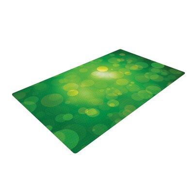 Radioactive Bokeh Green Area Rug