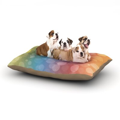 Prism Bokeh Dog Pillow with Fleece Cozy Top Size: Large (50 W x 40 D x 8 H)