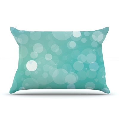 Glass Bokeh Pillow Case Color: Aqua/Blue