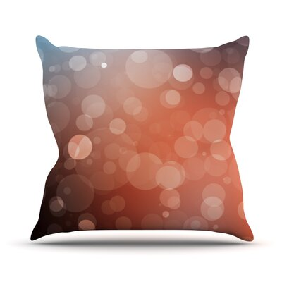 Sunset Bokeh Throw Pillow Size: 18 H x 18 W x 3 D