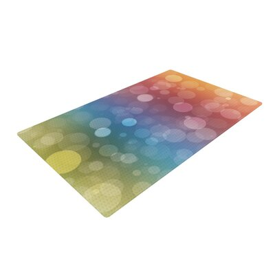 Prism Bokeh Rainbow Area Rug Rug Size: 2 x 3