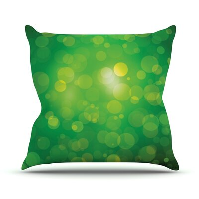 Radioactive Bokeh Throw Pillow Size: 16 H x 16 W x 3 D