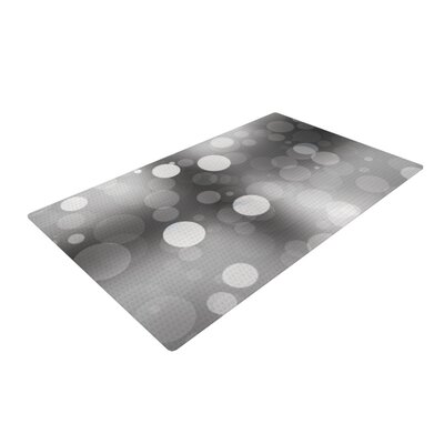 Spectral Bokeh Gray Area Rug Rug Size: 2 x 3