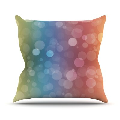 Prism Rainbow Bokeh Throw Pillow Size: 16 H x 16 W x 3 D