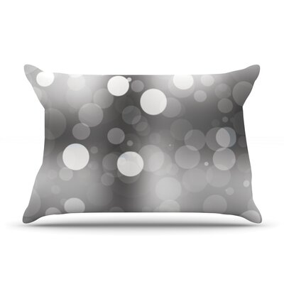 Glass Bokeh Pillow Case Color: Black/Gray