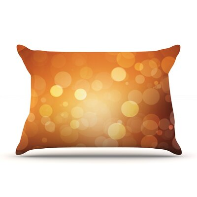 Glass Bokeh Pillow Case Color: Orange/Yellow