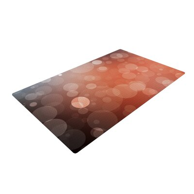 Sunset Bokeh Orange Area Rug Rug Size: 4 x 6