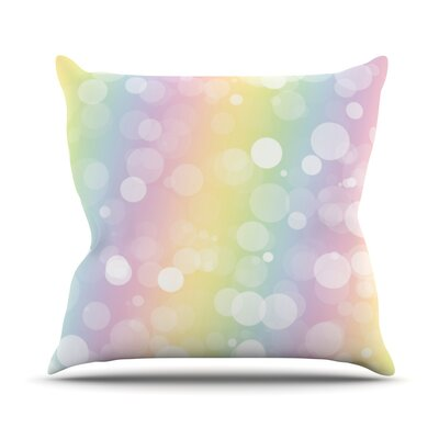 Pastel Prism Rainbow Bokeh Throw Pillow Size: 16 H x 16 W x 3 D