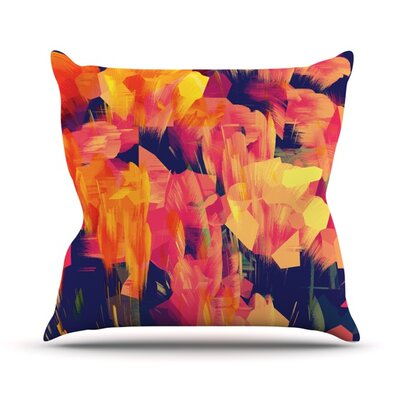 Geo Flower Throw Pillow Size: 18 H x 18 W x 4.1 D
