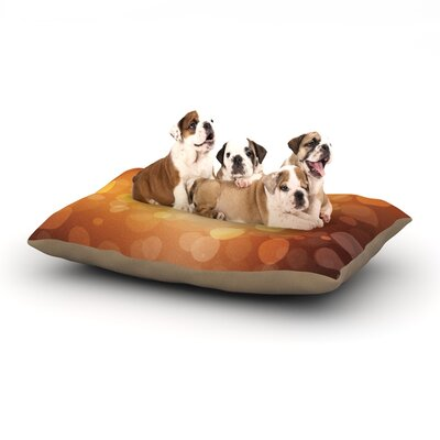 KESS Original Sunrise Bokeh Dog Pillow with Fleece Cozy Top Size: Small (40 W x 30 D x 8 H)