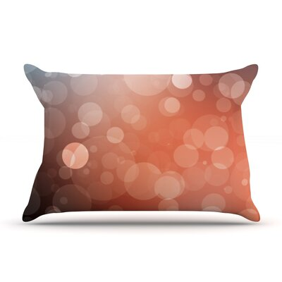 Glass Bokeh Pillow Case Color: Brown