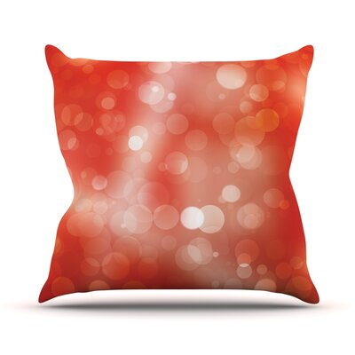 Passion Fruit Bokeh Throw Pillow Size: 16 H x 16 W x 3 D