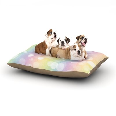 Pastel Prism Bokeh Dog Pillow with Fleece Cozy Top Size: Large (50 W x 40 D x 8 H)