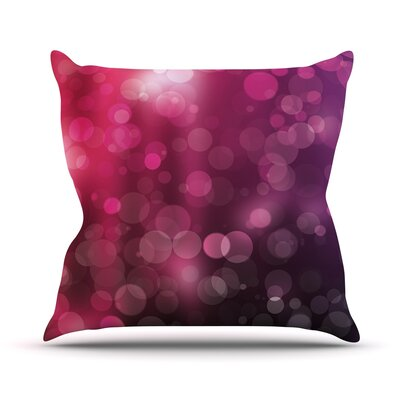 Dark Horse Bokeh Throw Pillow Size: 18 H x 18 W x 3 D