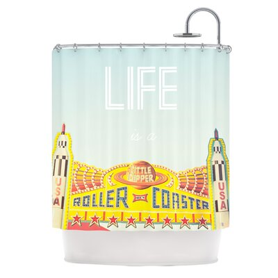 Life Is A Rollercoaster Shower Curtain