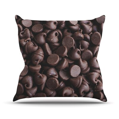 Yay! Chocolate by Libertad Leal Candy Throw Pillow Size: 16 H x 16 W x 3 D