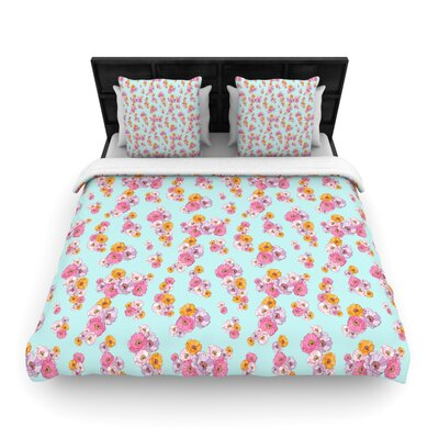 Paper Flower by Laura Escalante Featherweight Duvet Cover Size: Twin, Fabric: Woven Polyester