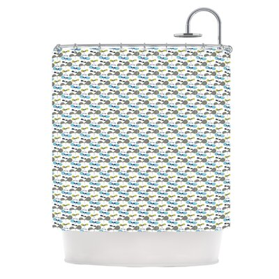 Shower Curtain Color: Mapleseeds Turquoise
