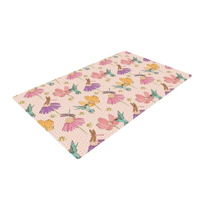 Laura Escalante Magic Garden Pink Area Rug Rug Size: 2 x 3