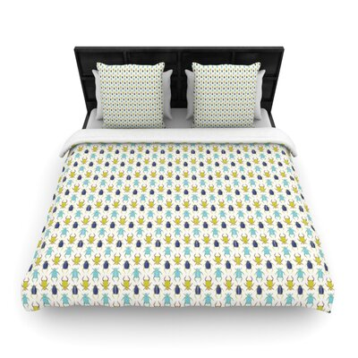 Beetles Woven Comforter Duvet Cover Size: King