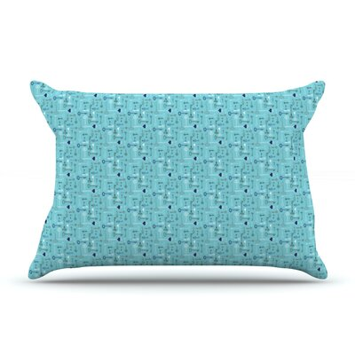 Pillow Case Color: Keys Blue, Size: King