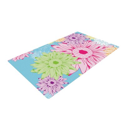 Laura Escalante Summer Time Pink/Green Area Rug Rug Size: 2 x 3