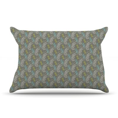 Ferns Vines Green by Laurie Baars Featherweight Pillow Sham Size: King, Color: Green/Brown, Fabric: Woven Polyester