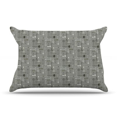 Pillow Case Size: King, Color: Keys Gray