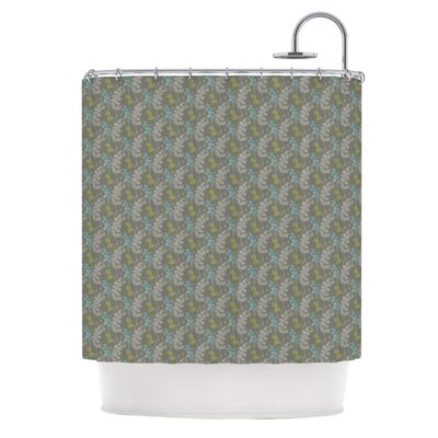 Shower Curtain Color: Ferns Vines Green