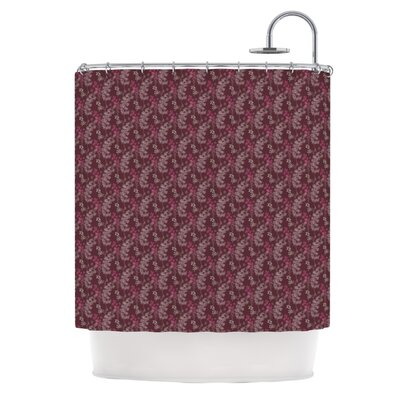 Shower Curtain Color: Ferns Vines Bordeaux