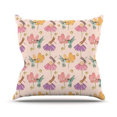 Magic Garden Throw Pillow Size: 16 H x 16 W