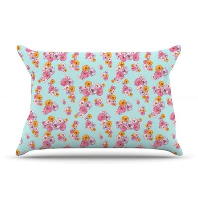 Paper Flower by Laura Escalante Featherweight Pillow Sham Size: Queen, Fabric: Woven Polyester
