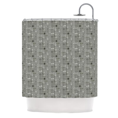 Shower Curtain Color: Keys Gray