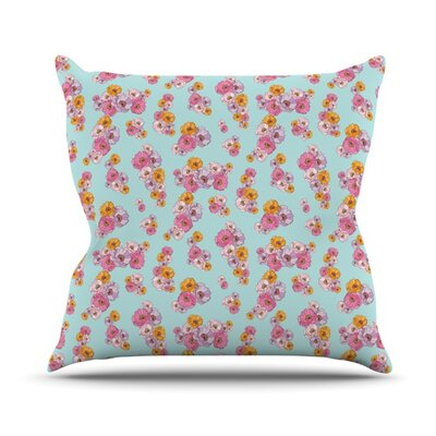 Paper Flower Throw Pillow Size: 18 H x 18 W