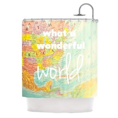 What A Wonderful World Shower Curtain