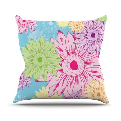 Summer Time Throw Pillow Size: 18 H x 18 W