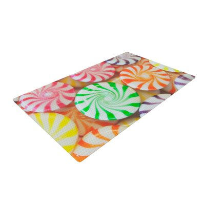 Libertad Leal I Want Candy Green/Orange Area Rug Rug Size: 2 x 3