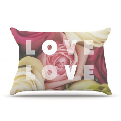 Love Love Love Pillow Case Size: Standard