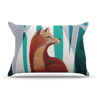 Fox Forest by Lydia Martin Featherweight Pillow Sham Size: Queen, Fabric: Woven Polyester